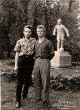 У парку санаторію в 1963 р.